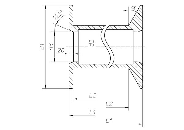 flansch fk 355 30 h fner krullmann gmbh. Black Bedroom Furniture Sets. Home Design Ideas